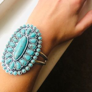 Lucky Brand Turquoise Zuni Style Cuff Bracelet